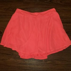 5/$20 Adrienne Sz L Lined Neon Orange Dress Shorts